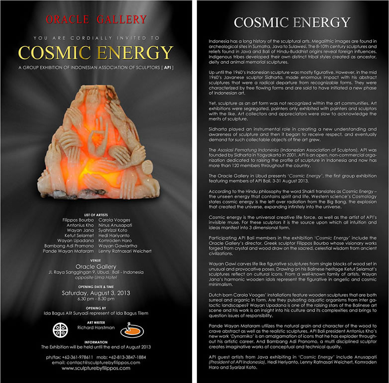 group exhibition cosmic energy
